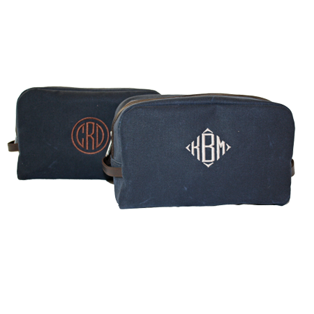 Monogrammed Dopp Kit The Monogram Studio