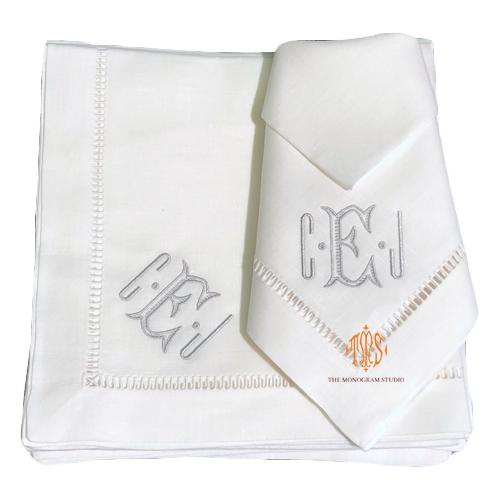 monogrammed-linen-napkins-heirloom-napkins-modern-linen-napkins-monogram-studio