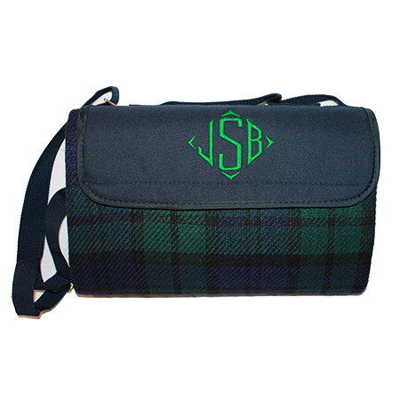 monogrammed picnic blanket