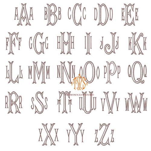 3 initial monogram