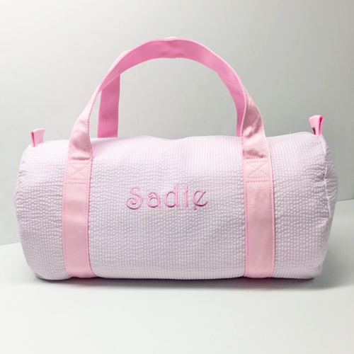 oh-mint-pink-seersucker-duffel-bag