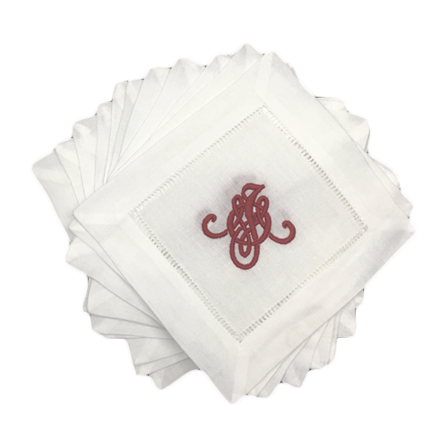 hemstitch-monogrammed-cocktail-napkins