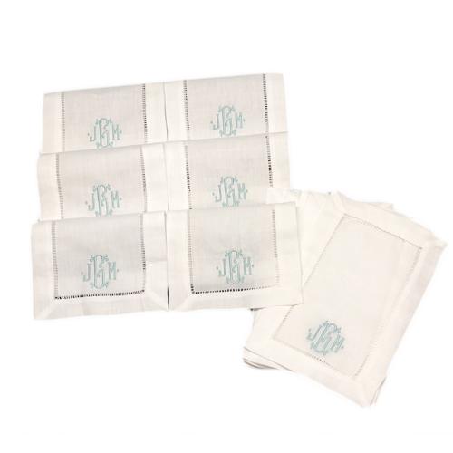 monogrammed-cocktial-napkins-linen