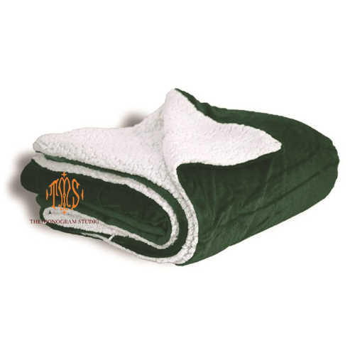 green-fleece-blanket