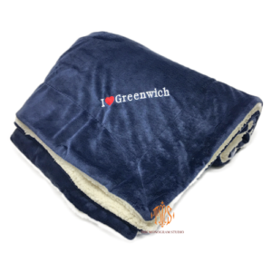 personalized-blanket-navy