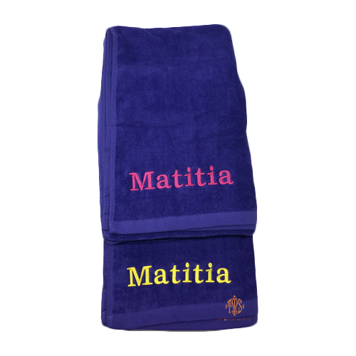 best-camp-towels-monogrammed-purple