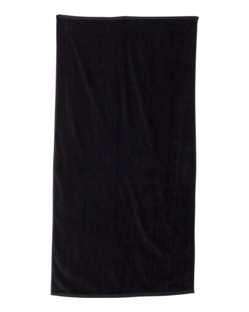 black-pool-towels-monogrammed
