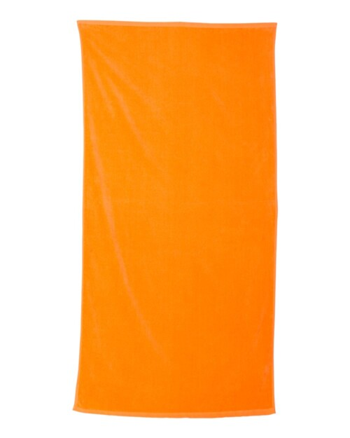personalized-beach-towel-tangerine