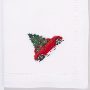 monogrammed-christmas-tree-car-napkins