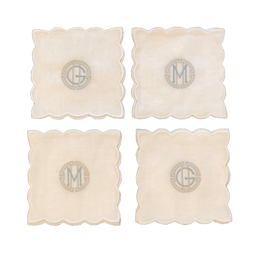 scalloped-cocktail-napkins-linen-monogrammed